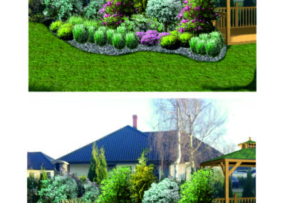 Wizualizacja ogrodu przydomowego wersja II