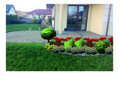 Wizualizacja ogrodu przydomowego wersja I