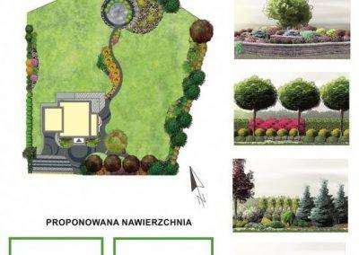 Projekt ogrodu przydomowego - Mały Rudnik
